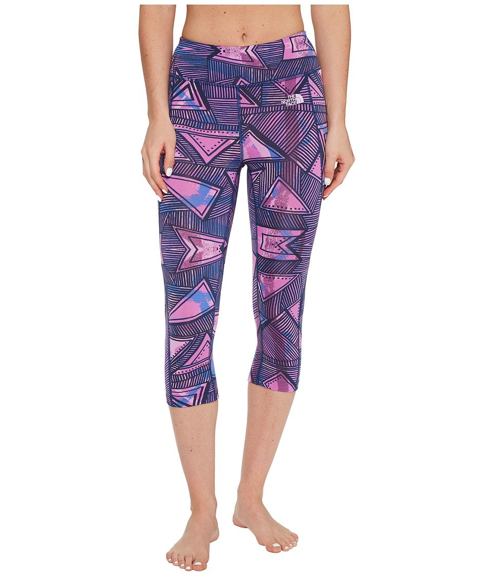 The North Face Pulse Capri Tight (Sweet Violet Funkdified All Over Print (Prior Season)) Women
