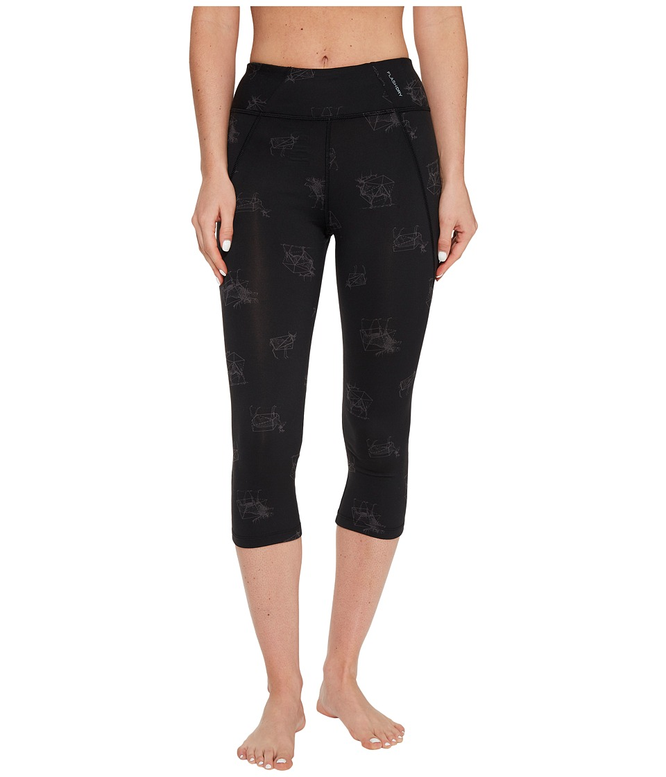 The North Face - Pulse Capri Tight (TNF Black Tribal Tracks Print (Prior Season)) Women's Capri