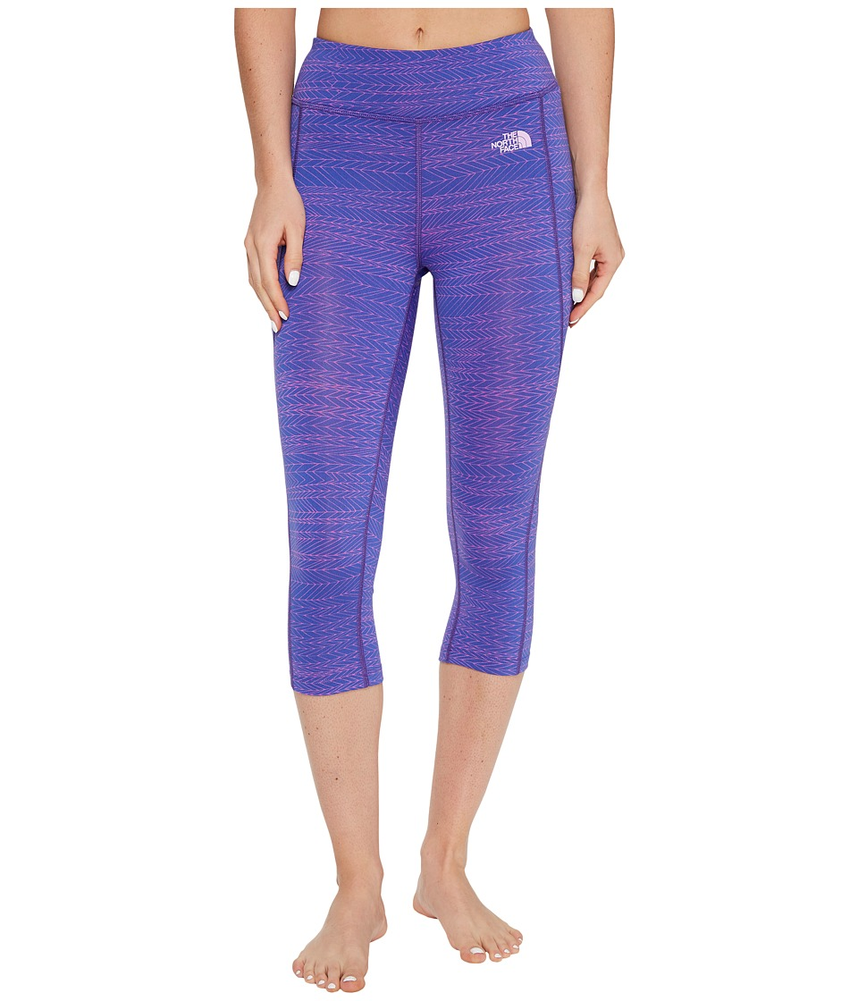 The North Face - Pulse Capri Tight (Amparo Blue Tribal Tracks Print (Prior Season)) Women's Capri
