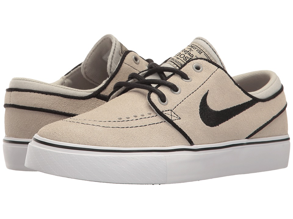 Nike SB Kids - Stefan Janoski (Big Kid) (Pale Grey/Black/White) Boys Shoes