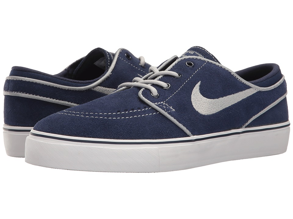 Nike SB Kids - Stefan Janoski (Big Kid) (Binary Blue/Wolf Grey/White) Boys Shoes