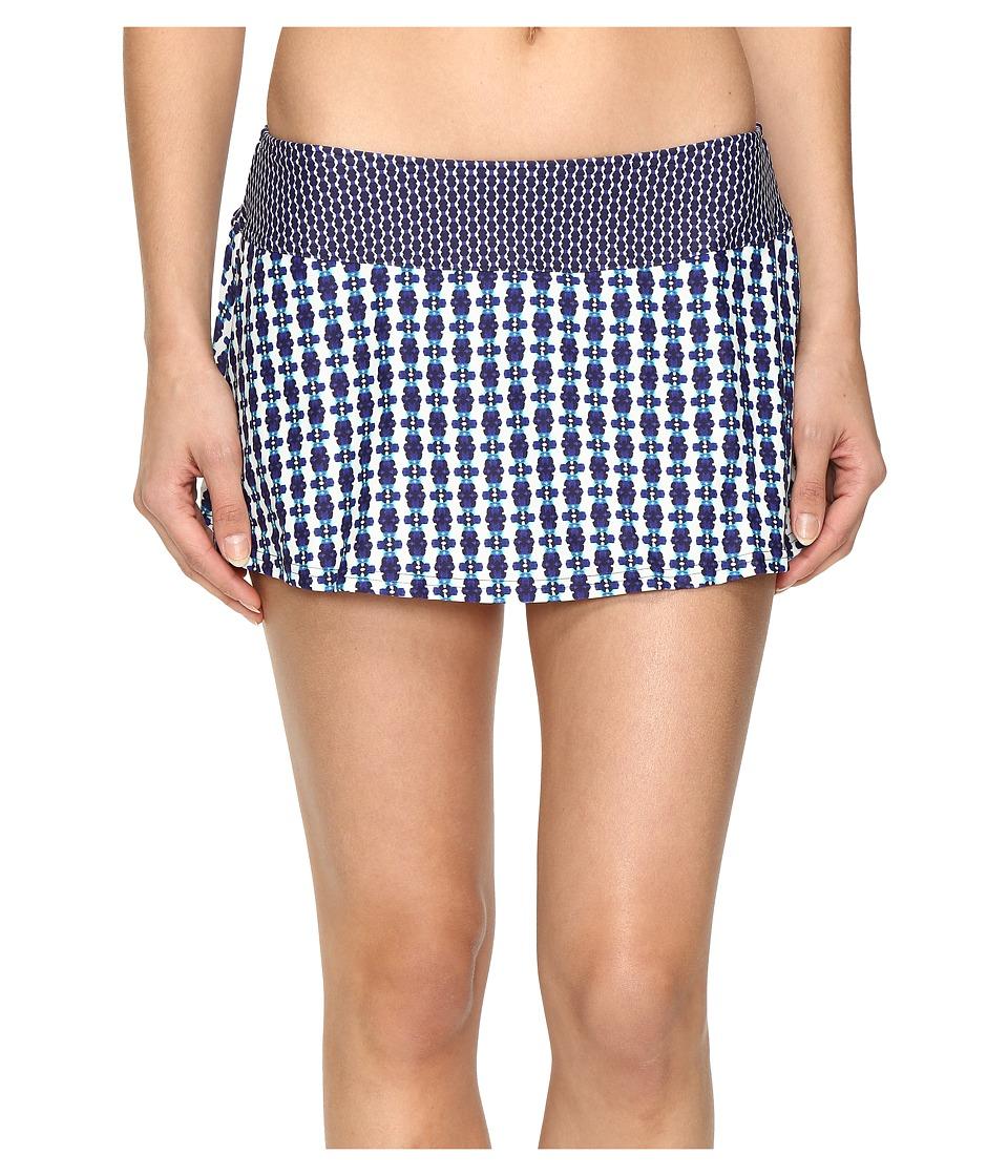 Prana Sakti Swim Skirt (Indigo Santorini) Women