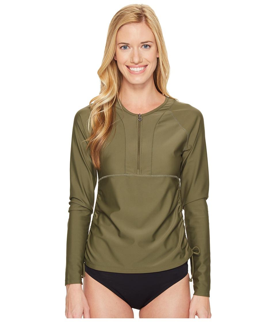 Prana - Arwyn Sun Top (Cargo Green) Women's Swimwear
