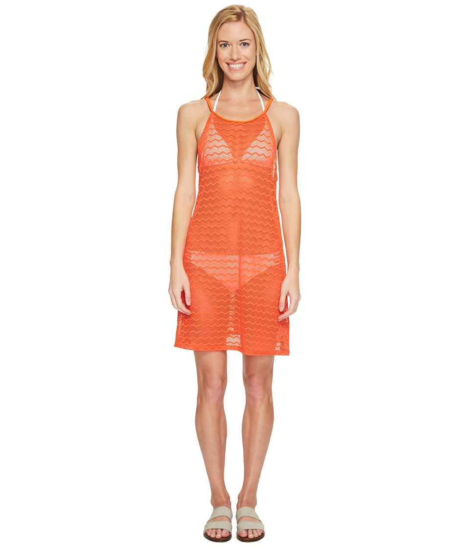 Prana - Page Dress Cover-Up (Electric Orange) Women's Swimwear