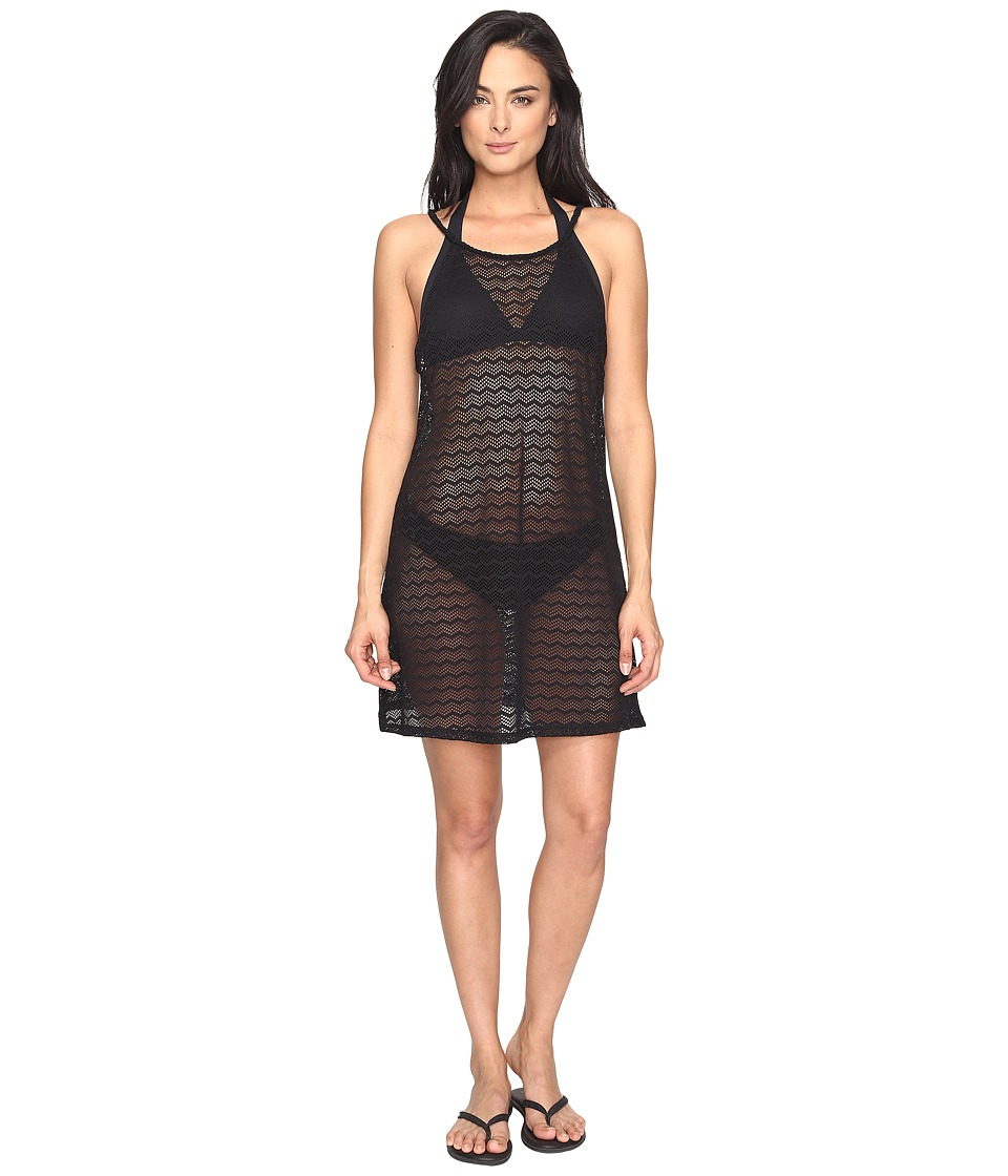 Prana - Page Dress Cover-Up (Solid Black) Women's Swimwear
