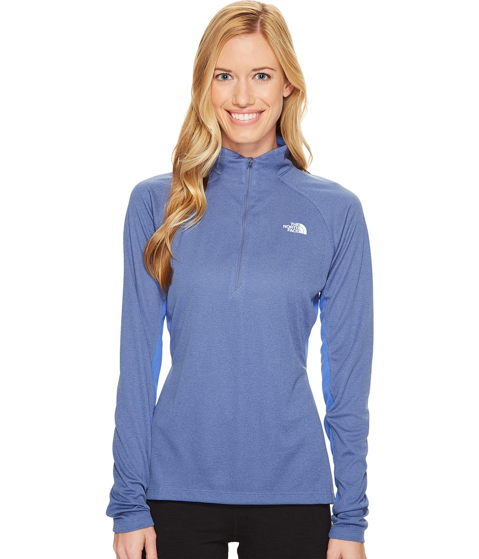 The North Face - Impulse Active 1/4 Zip (Coastal Fjord Blue Heather/Amparo Blue (Prior Season)) Women's Workout