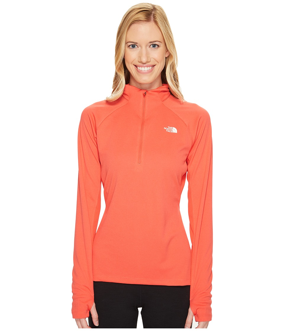 The North Face - Impulse Active 1/4 Zip (Cayenne Red Heather (Prior Season)) Women's Workout