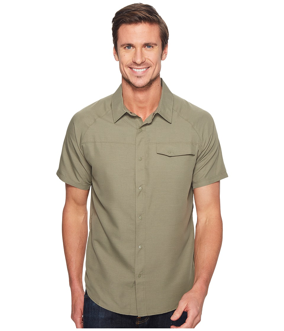 Mountain Hardwear - Technician Short Sleeve Shirt (Stone Green) Men's Short Sleeve Button Up