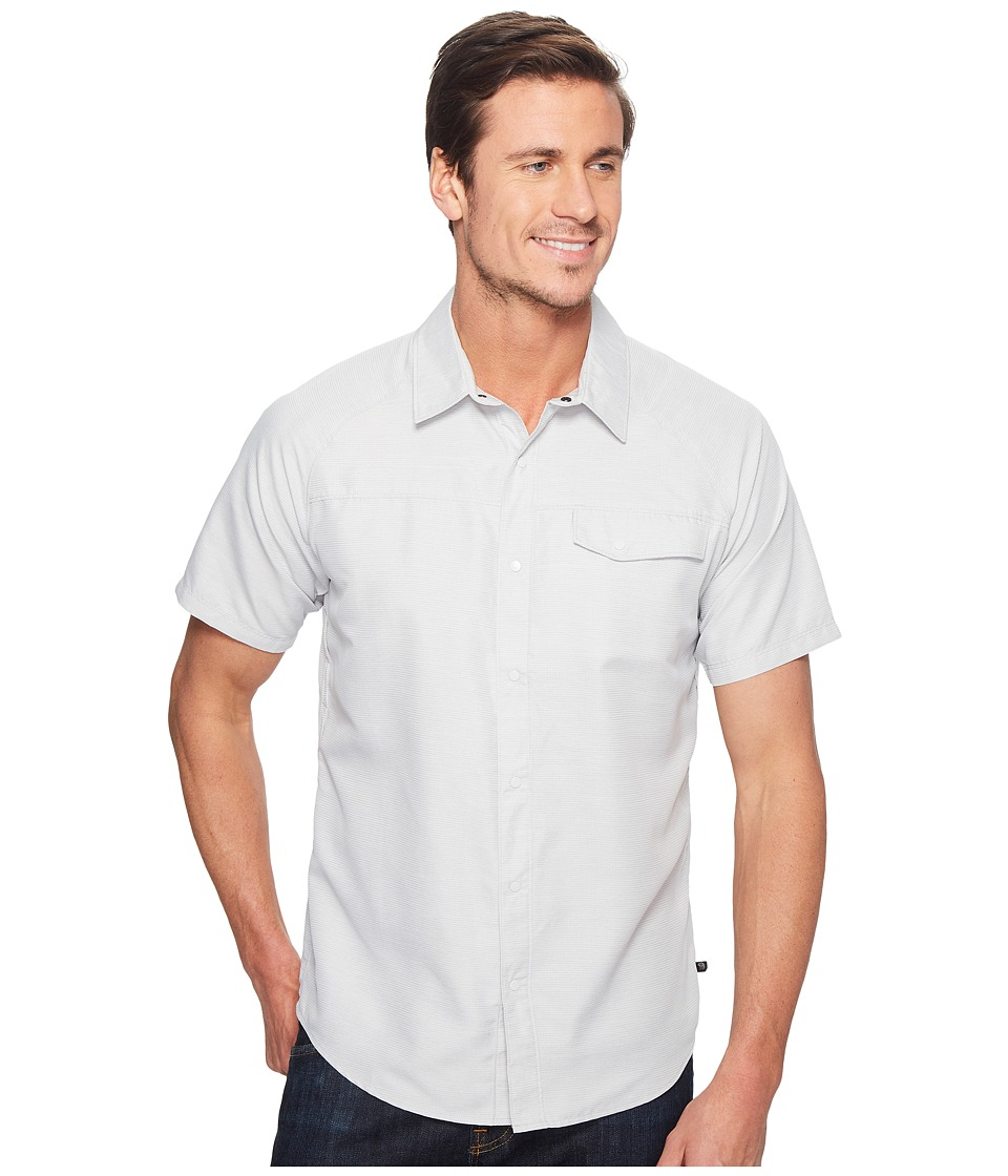Mountain Hardwear - Technician Short Sleeve Shirt (Grey Ice) Men's Short Sleeve Button Up
