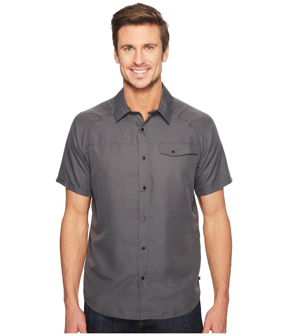 Mountain Hardwear - Technician Short Sleeve Shirt (Black) Men's Short Sleeve Button Up