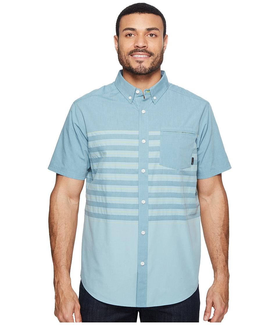 Mountain Hardwear - Axton AC Short Sleeve Shirt (Cloudburst) Men's Short Sleeve Button Up