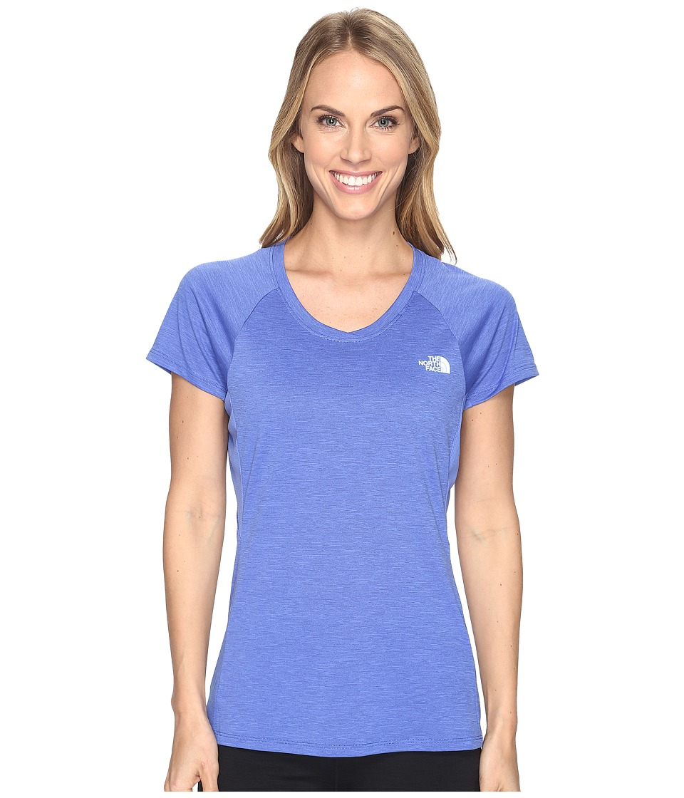 The North Face - Initiative Short Sleeve Shirt (Amparo Blue Heather (Prior Season)) Women's Short Sleeve Pullover
