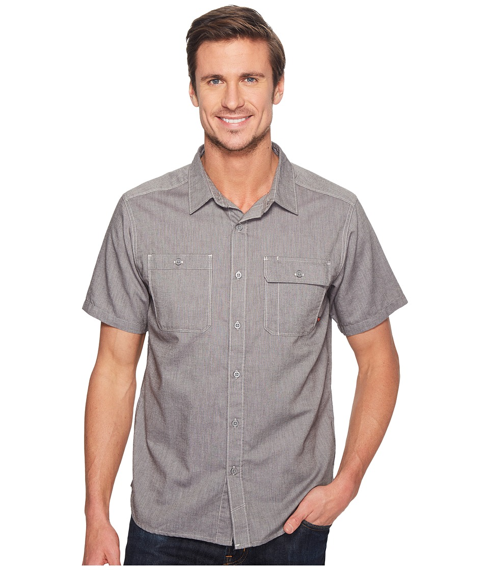 Mountain Hardwear - Drummondtm Utility S/S Shirt (Shark) Men's Short Sleeve Button Up