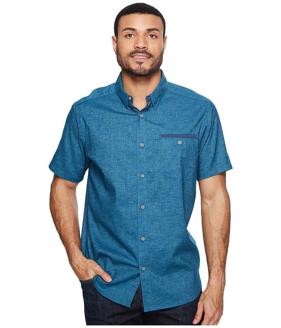Mountain Hardwear - Denton Short Sleeve Shirt (Phoenix Blue) Men's Short Sleeve Button Up