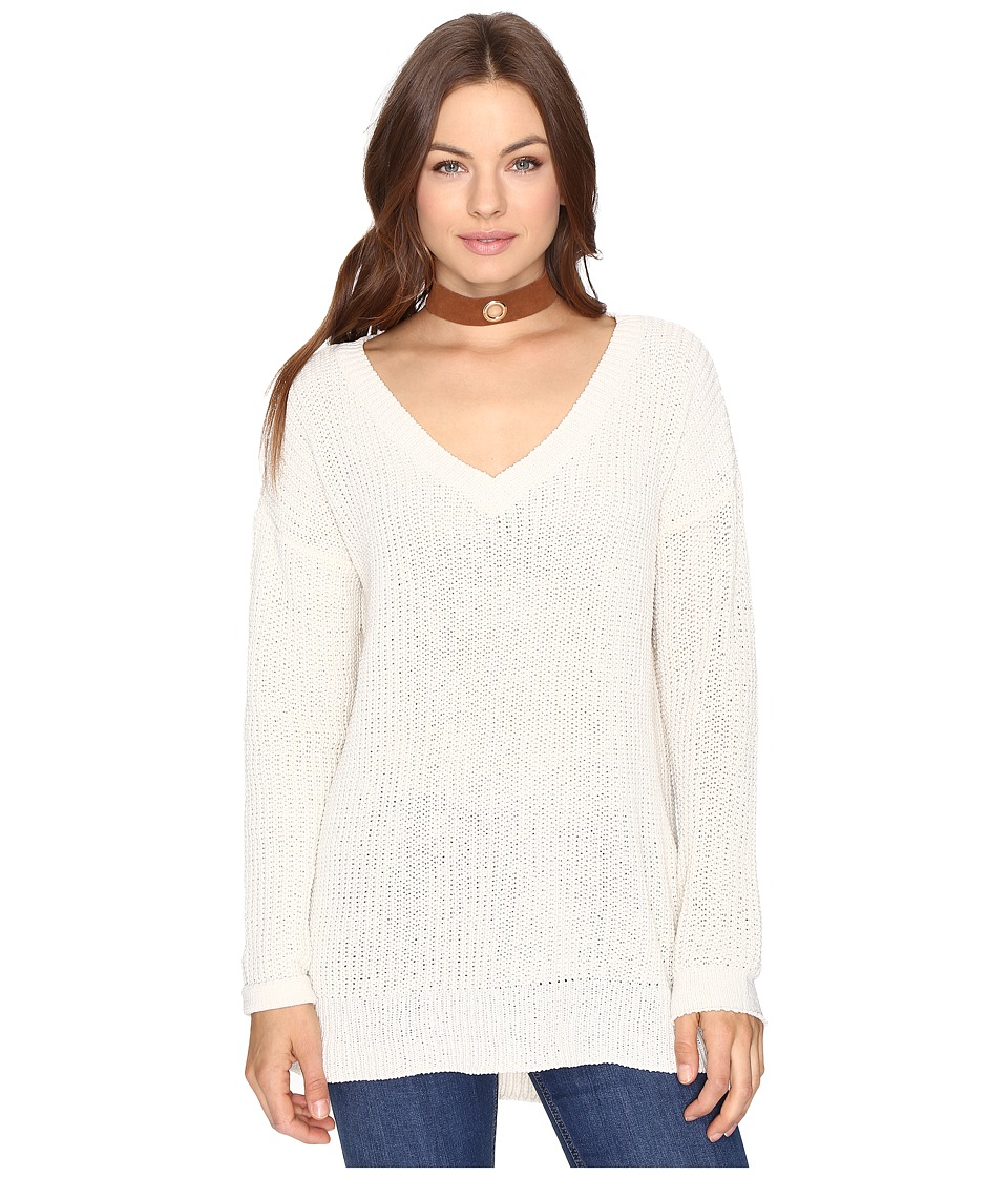 BB Dakota - Barlow V-Neck Sweater (Oatmeal) Women's Sweater