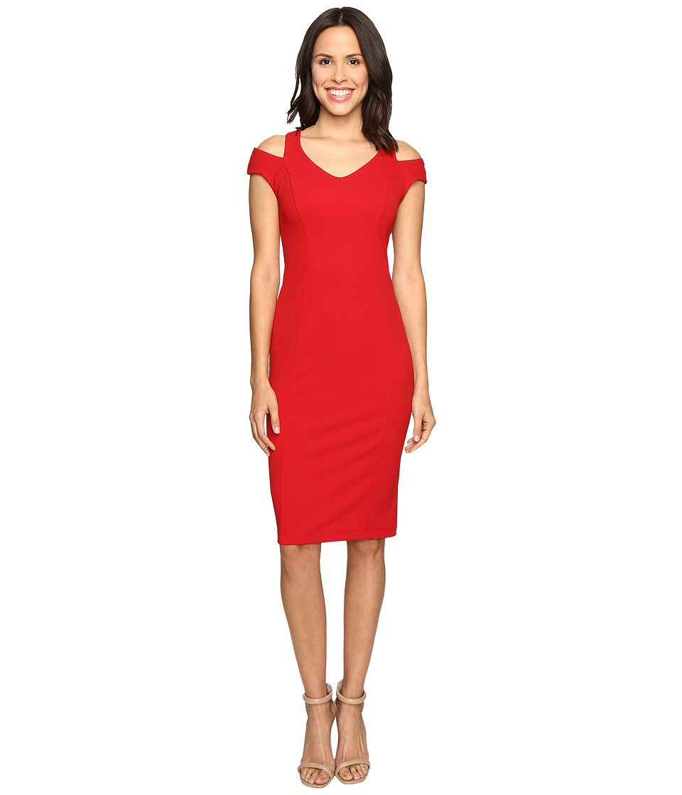 Christin Michaels - Daisy Cold Shoulder Dress (Red) Women's Dress