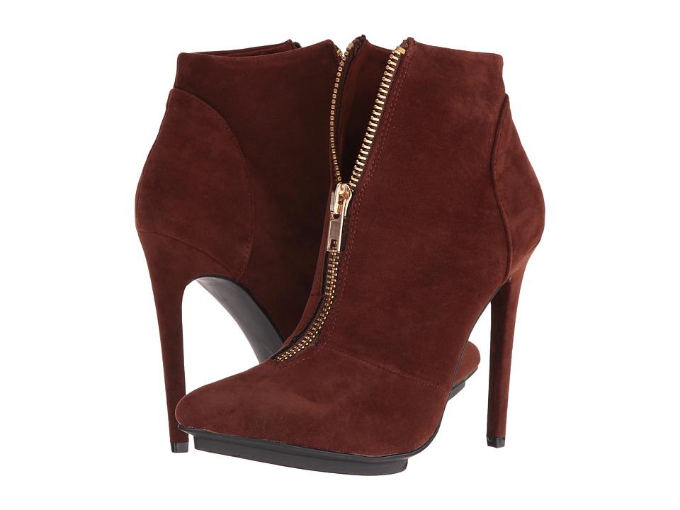 Michael Antonio - Lecker - Suede (Cognac) Women's Zip Boots