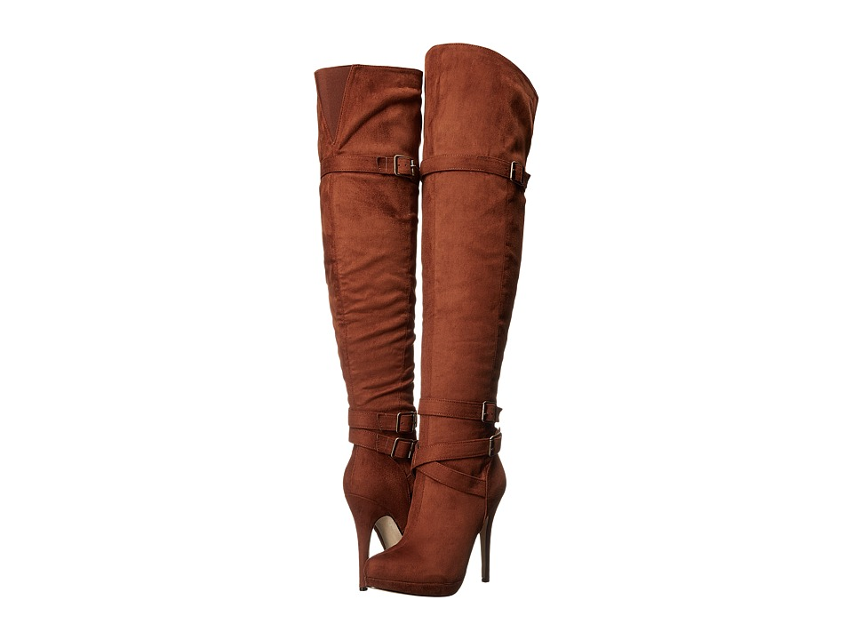Michael Antonio - Hark - Velvet (Cognac) Women's Pull-on Boots