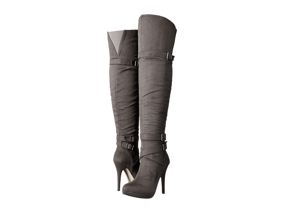 Michael Antonio - Hark - Velvet (Charcoal) Women's Pull-on Boots