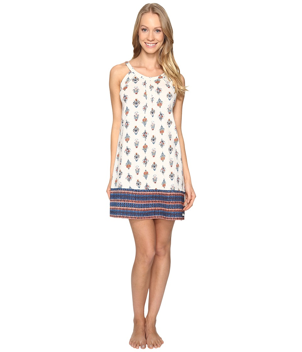 Lucky Brand - Halter Chemise (Ivory Deco Floral) Women's Pajama