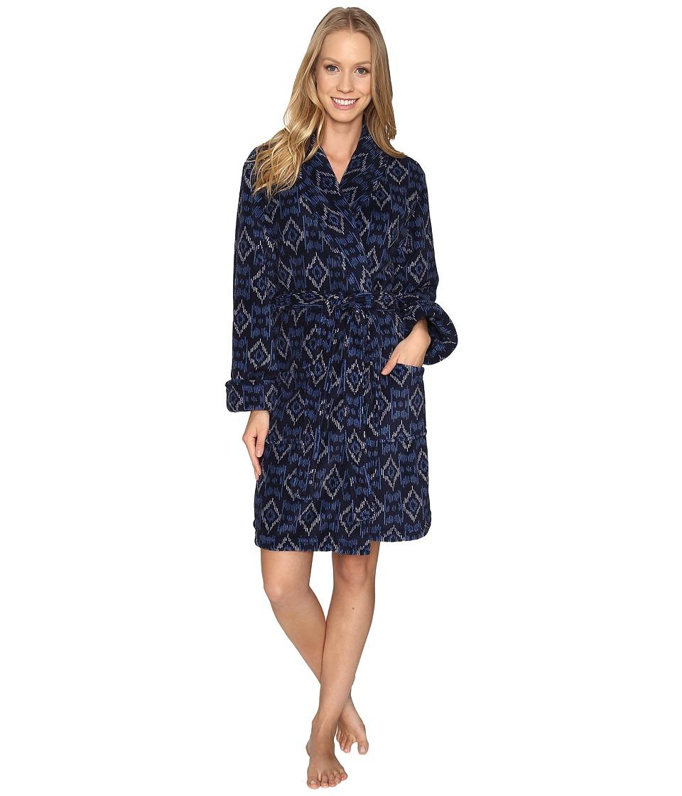 Lucky Brand - Shawl Collar Plush Robe (Zanshi Ikat) Women's Robe