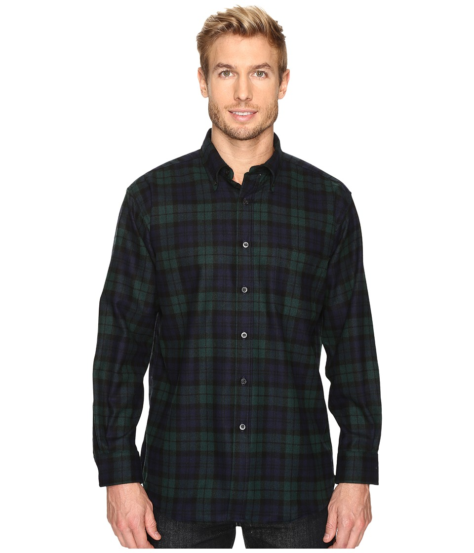Pendleton - Fireside Shirt (Black Watch) Men's Clothing