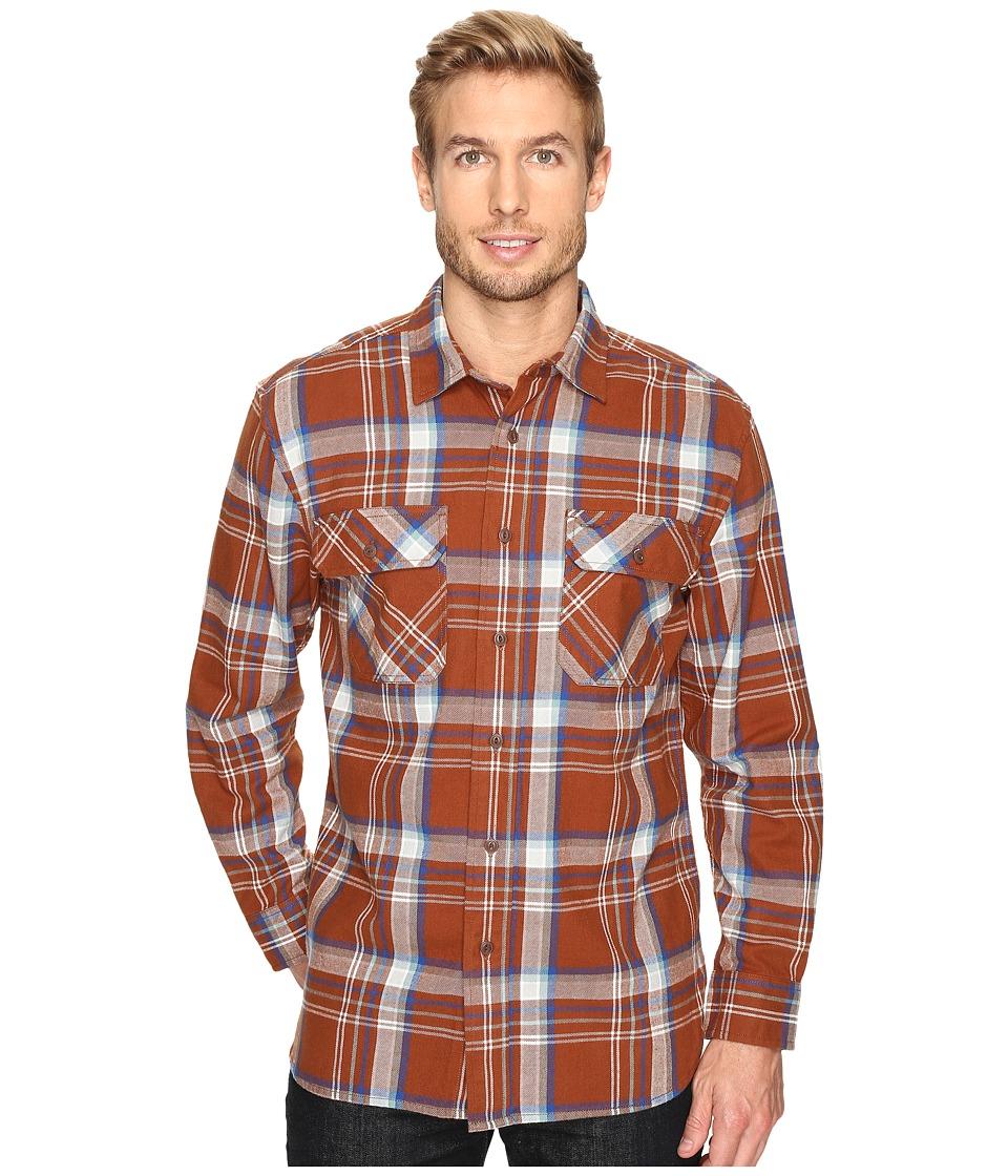 Pendleton - L/S Burnside Shirt (Brown Plaid) Men's Long Sleeve Button Up