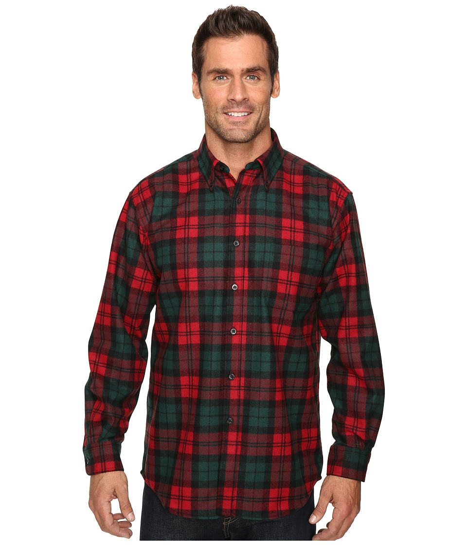 Pendleton - Fireside Shirt (Red/Green Plaid) Men's Clothing
