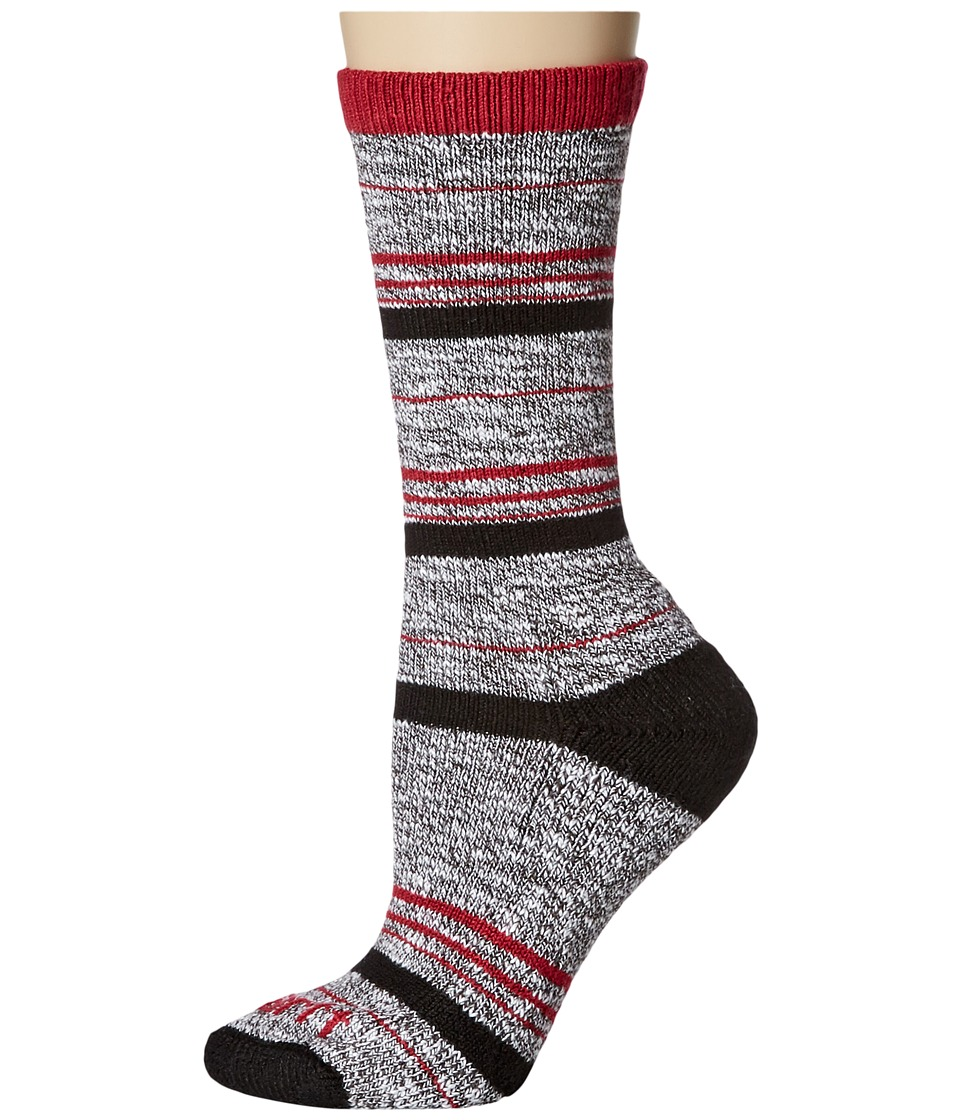 Carhartt - Merino Wool Blend Slub Stripe (Black) Women's Crew Cut Socks Shoes