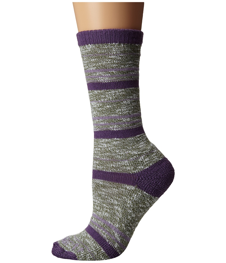 Carhartt - Merino Wool Blend Slub Stripe (Gray) Women's Crew Cut Socks Shoes