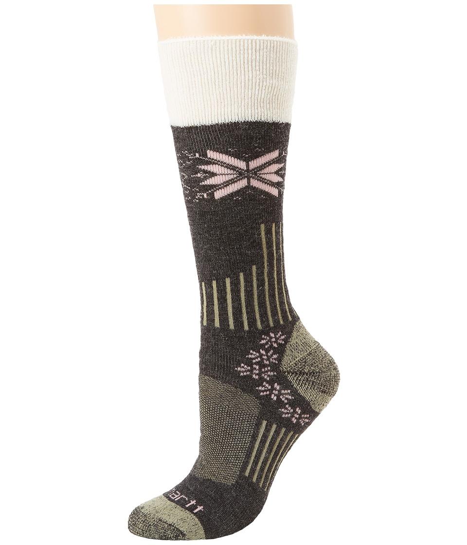 Carhartt - Sherpa Cuff Graduated Compression Boot (Charcoal) Women's Crew Cut Socks Shoes