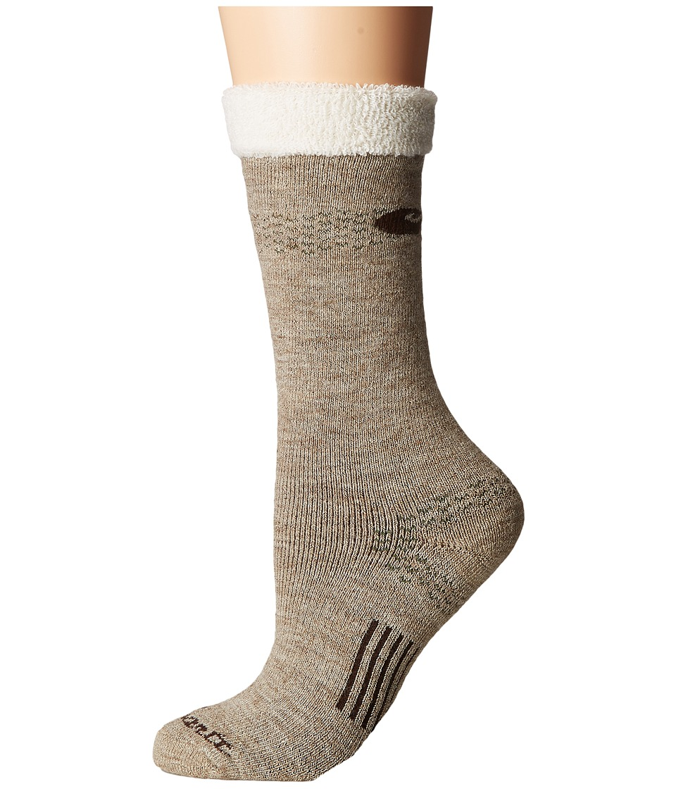 Carhartt - Sherpa Cuff Graduated Compression Boot (Khaki) Women's Crew Cut Socks Shoes