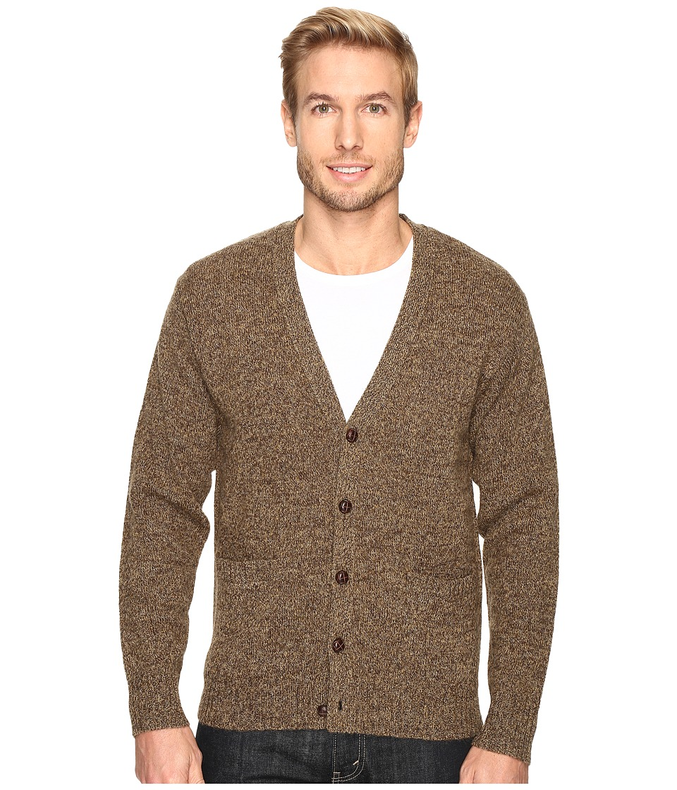 Pendleton - Shetland Cardigan (Coffee Heather) Men's Sweater