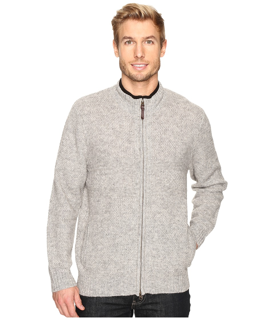 Pendleton - Weekender Zip Front Cardigan (Grey Heather) Men's Sweater