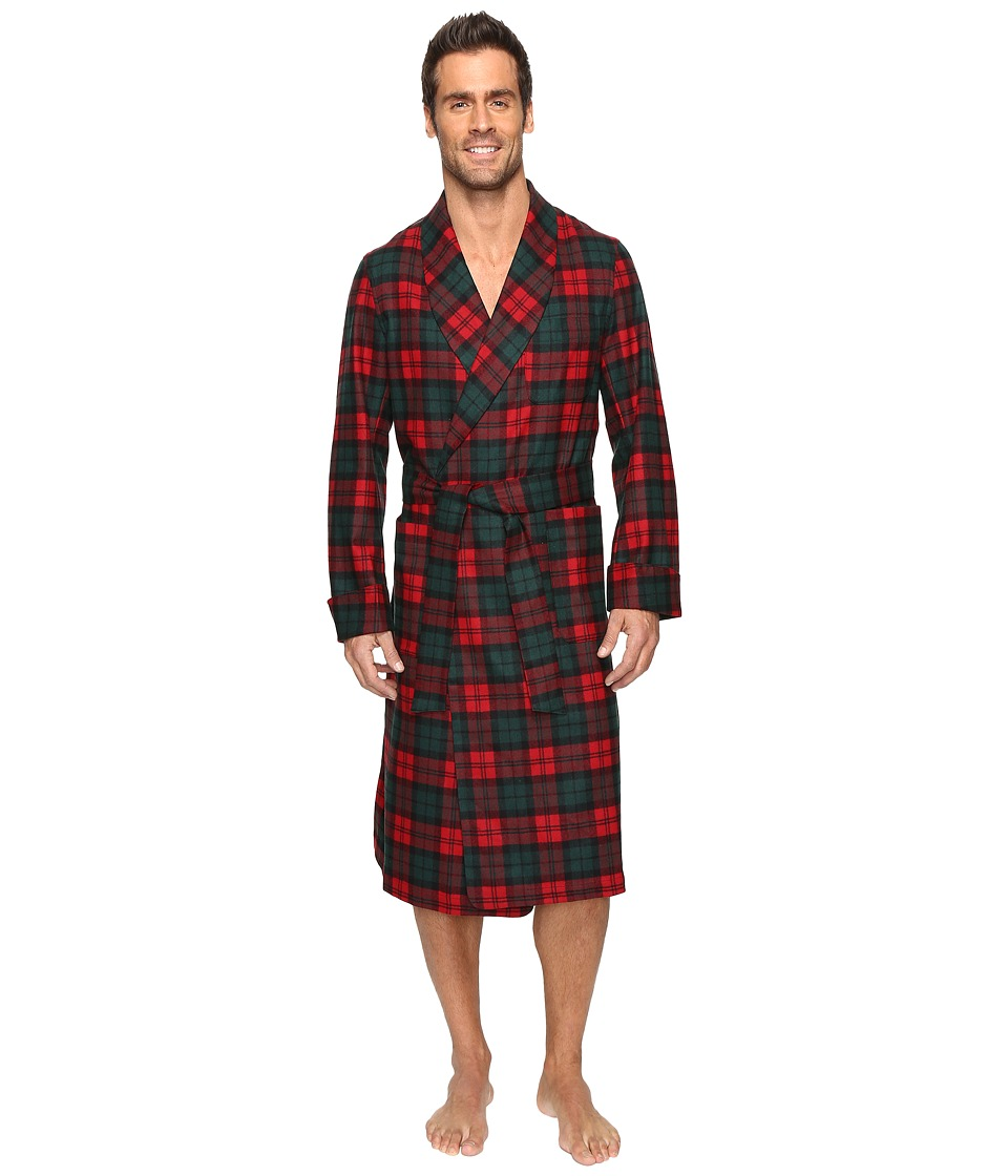 Pendleton - Lounge Robe (Red Plaid) Men's Robe