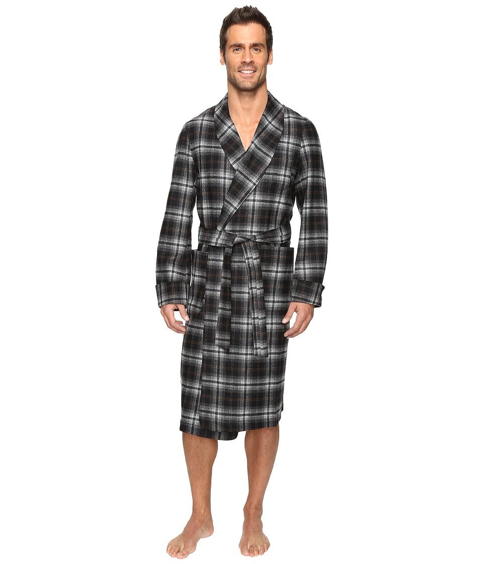 Pendleton - Lounge Robe (Grey/Black Plaid) Men's Robe