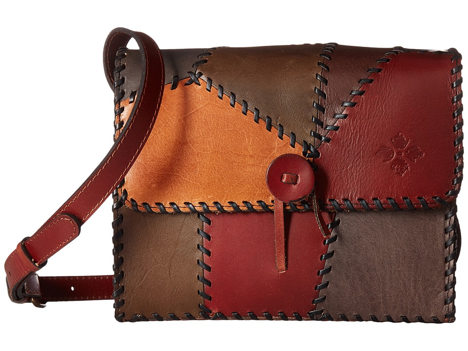 Patricia Nash - Dante Flap (Patchwork Chocolate) Handbags