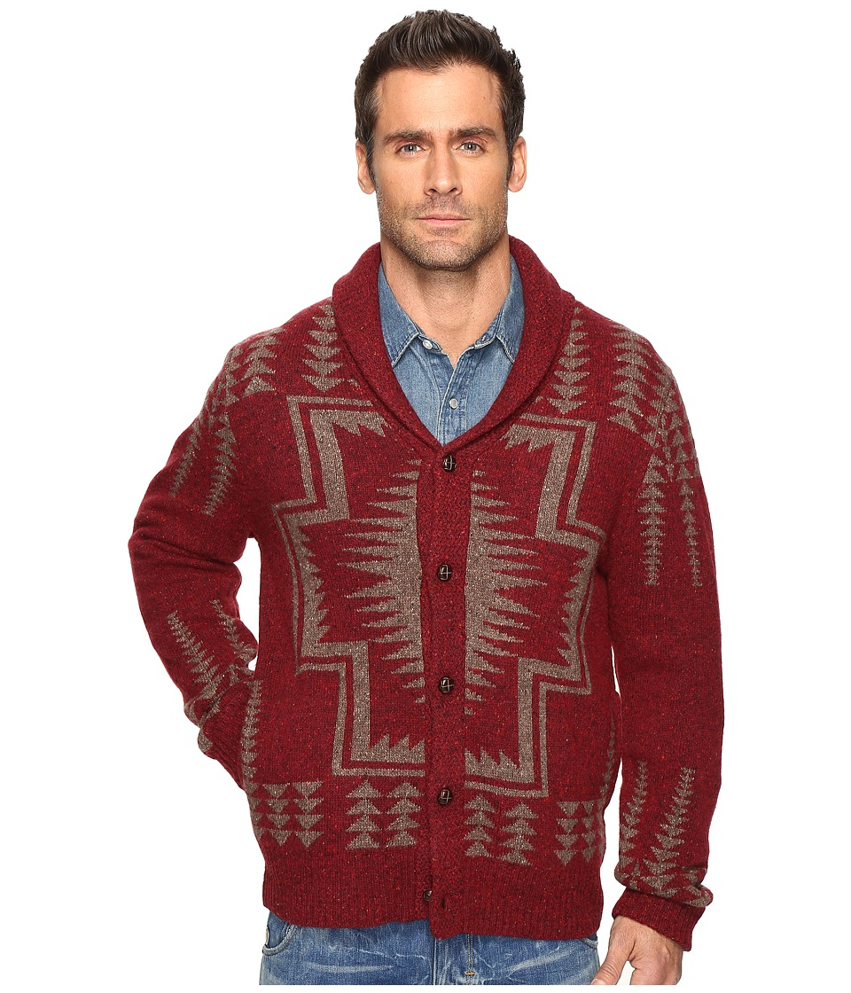 Pendleton - Harding Shawl Cardigan (Maroon) Men's Sweater