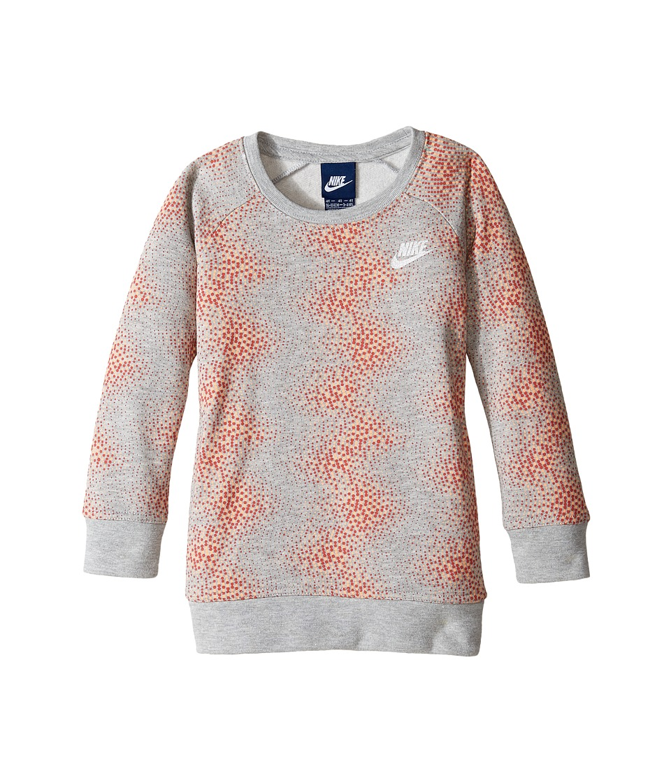 Nike Kids - Aop Tunic (Toddler) (Dark Grey Heather) Girl's Blouse