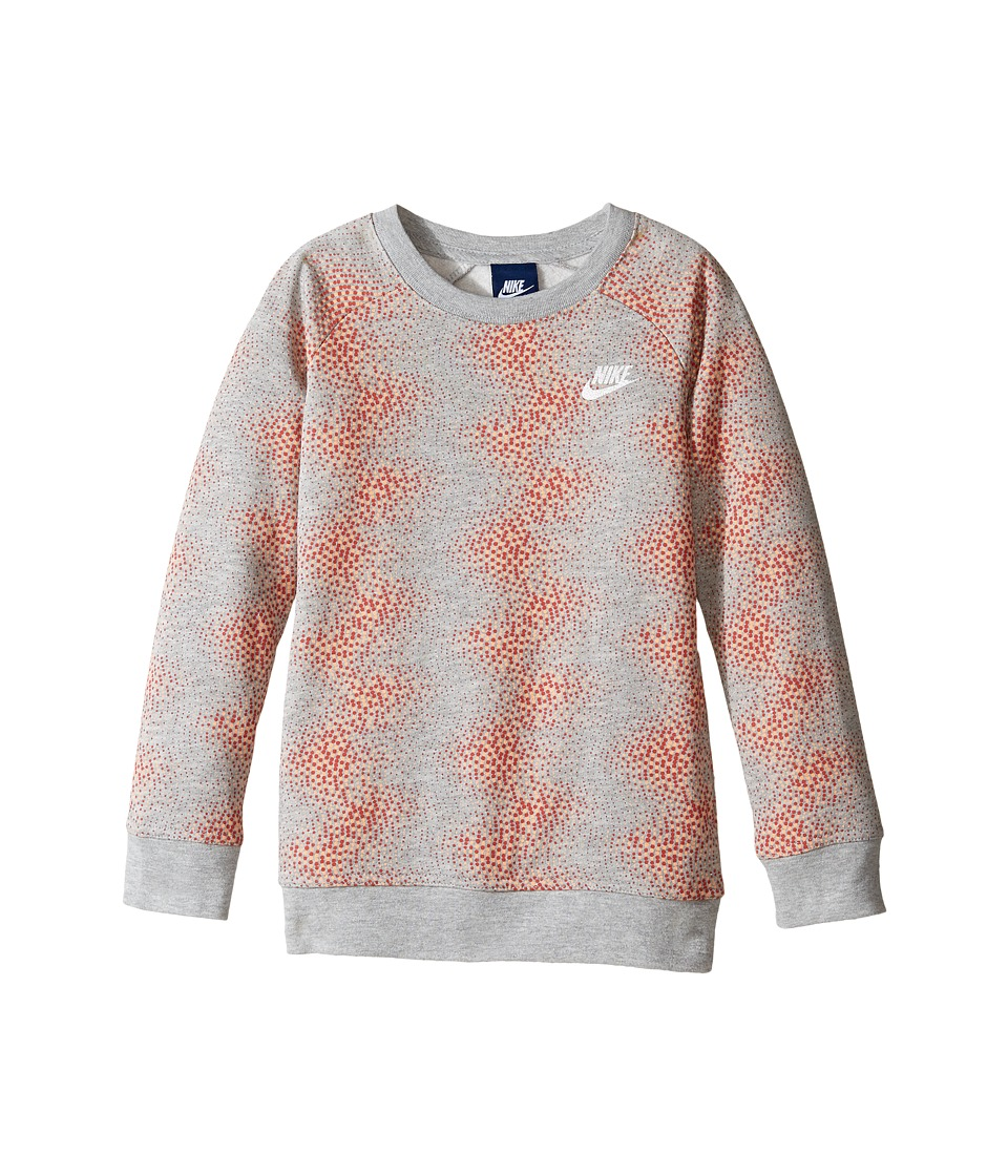 Nike Kids - Aop Tunic (Little Kids) (Dark Grey Heather) Girl's Blouse