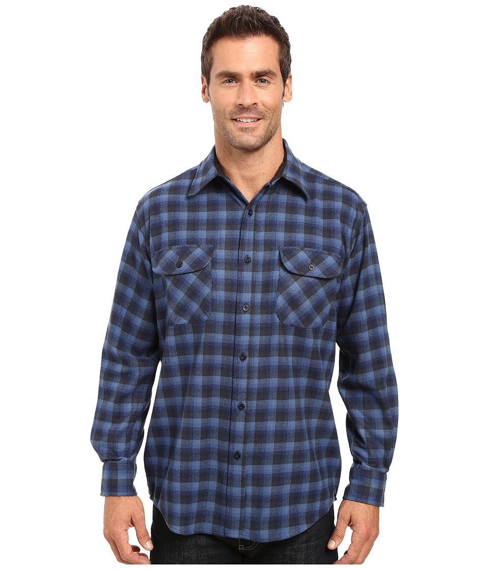 Pendleton - Merino Shirt (Blue Plaid) Men's Clothing