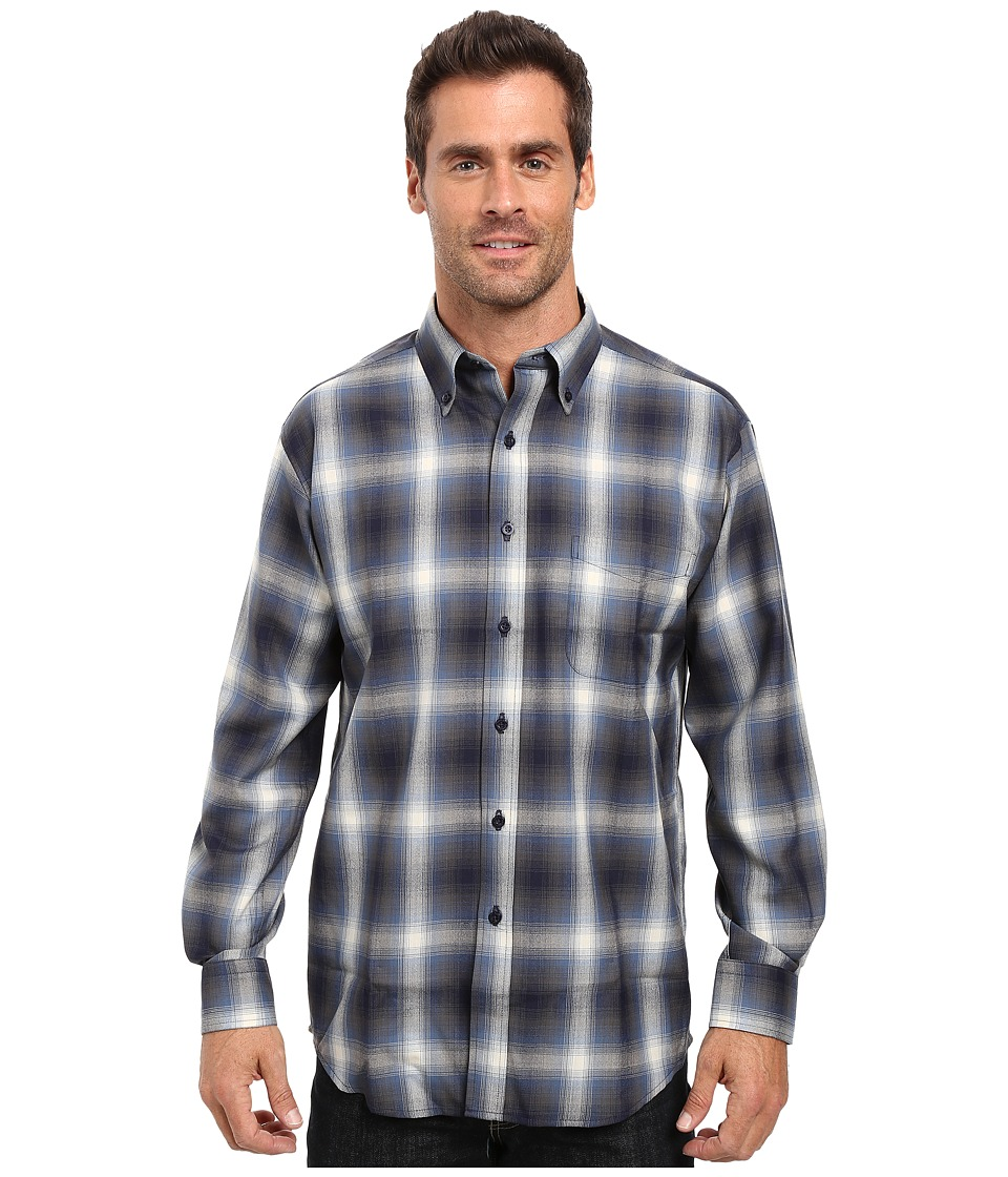 Pendleton - L/S Sir Pendleton Shirt (Blue/Black Ombre) Men's Long Sleeve Button Up
