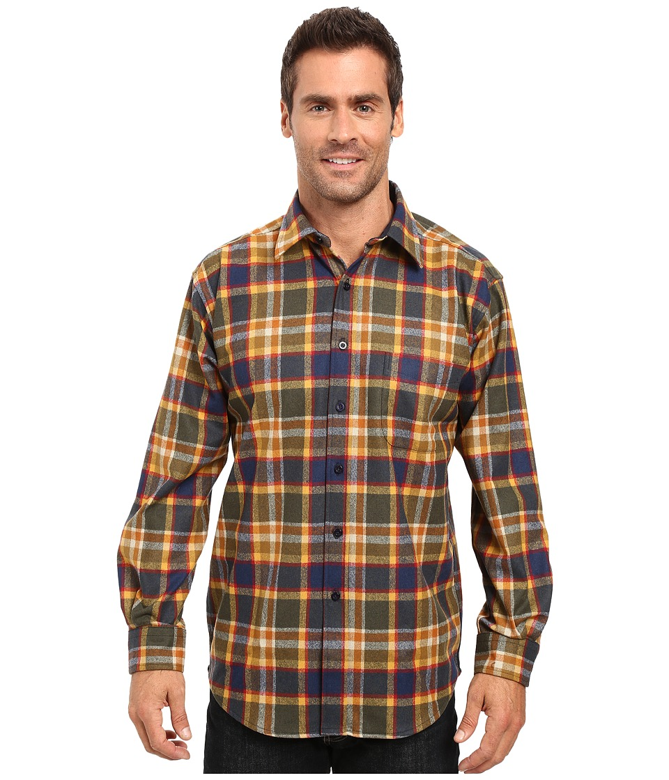 Pendleton - L/S Lodge Shirt (Badlands Multi Plaid) Men's Long Sleeve Button Up
