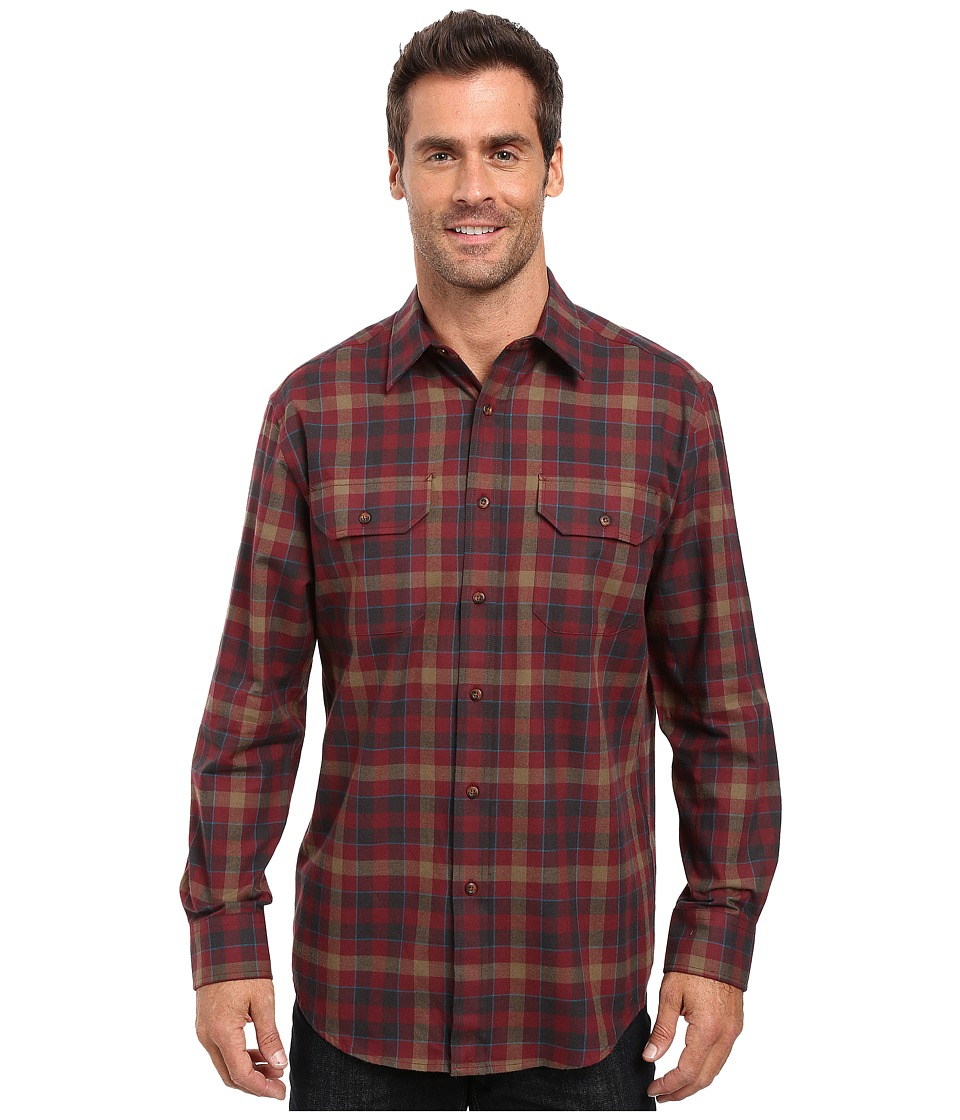 Pendleton - Bridger Shirt (Maroon Plaid) Men's Clothing