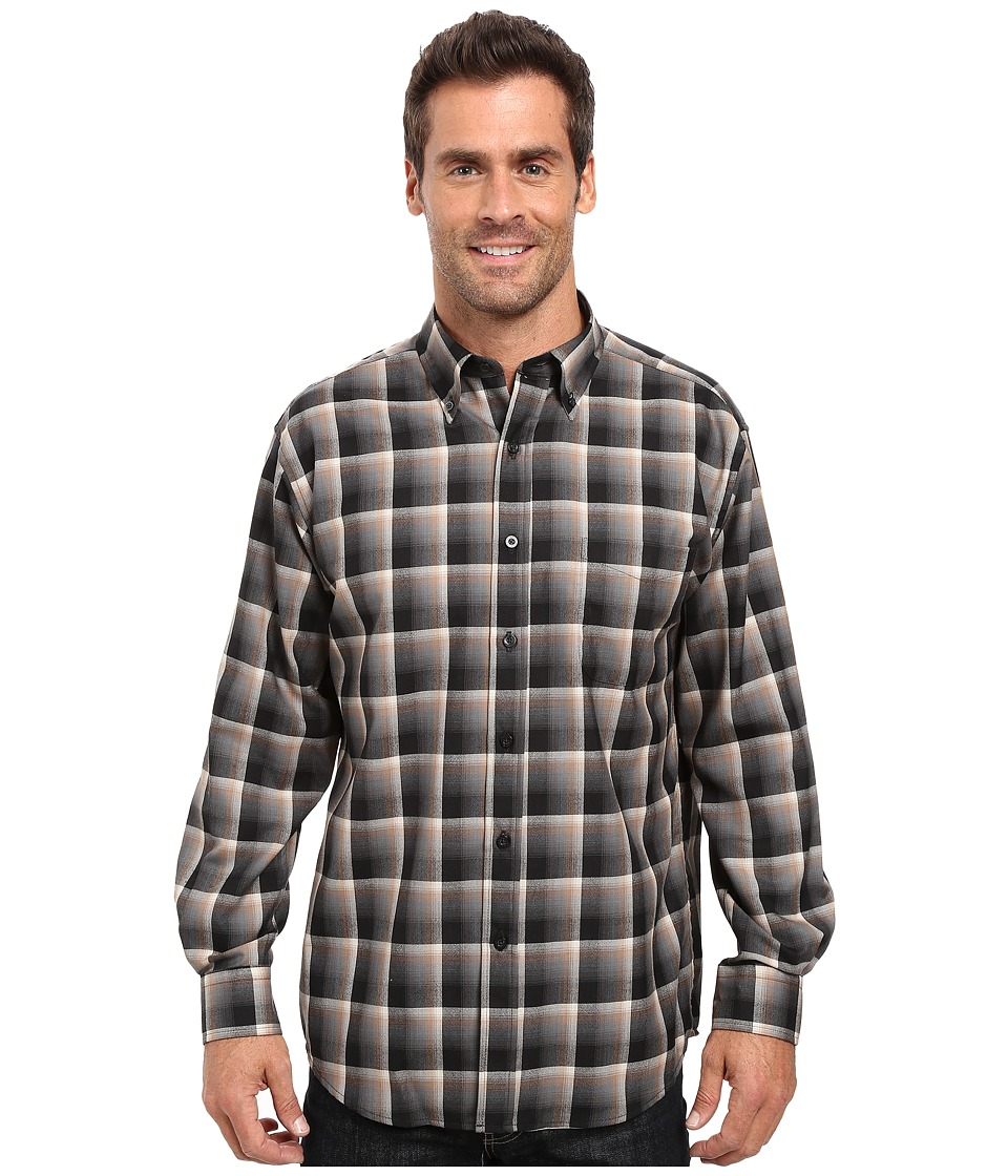 Pendleton - L/S Sir Pendleton Shirt (Black Shadow Plaid) Men's Long Sleeve Button Up