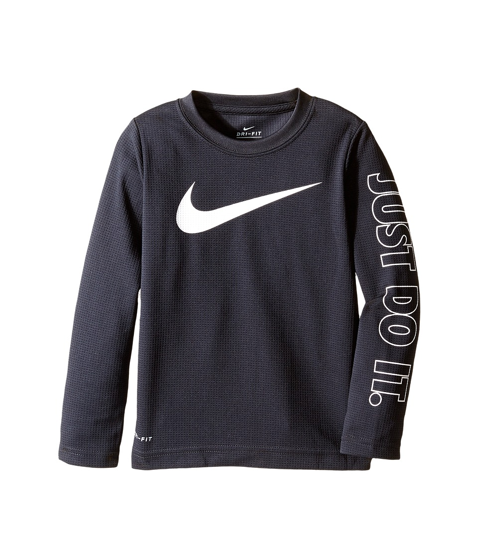 Nike Kids - Swoosh Just Do It Dri-Fit Tee (Toddler) (Black) Boy's T Shirt