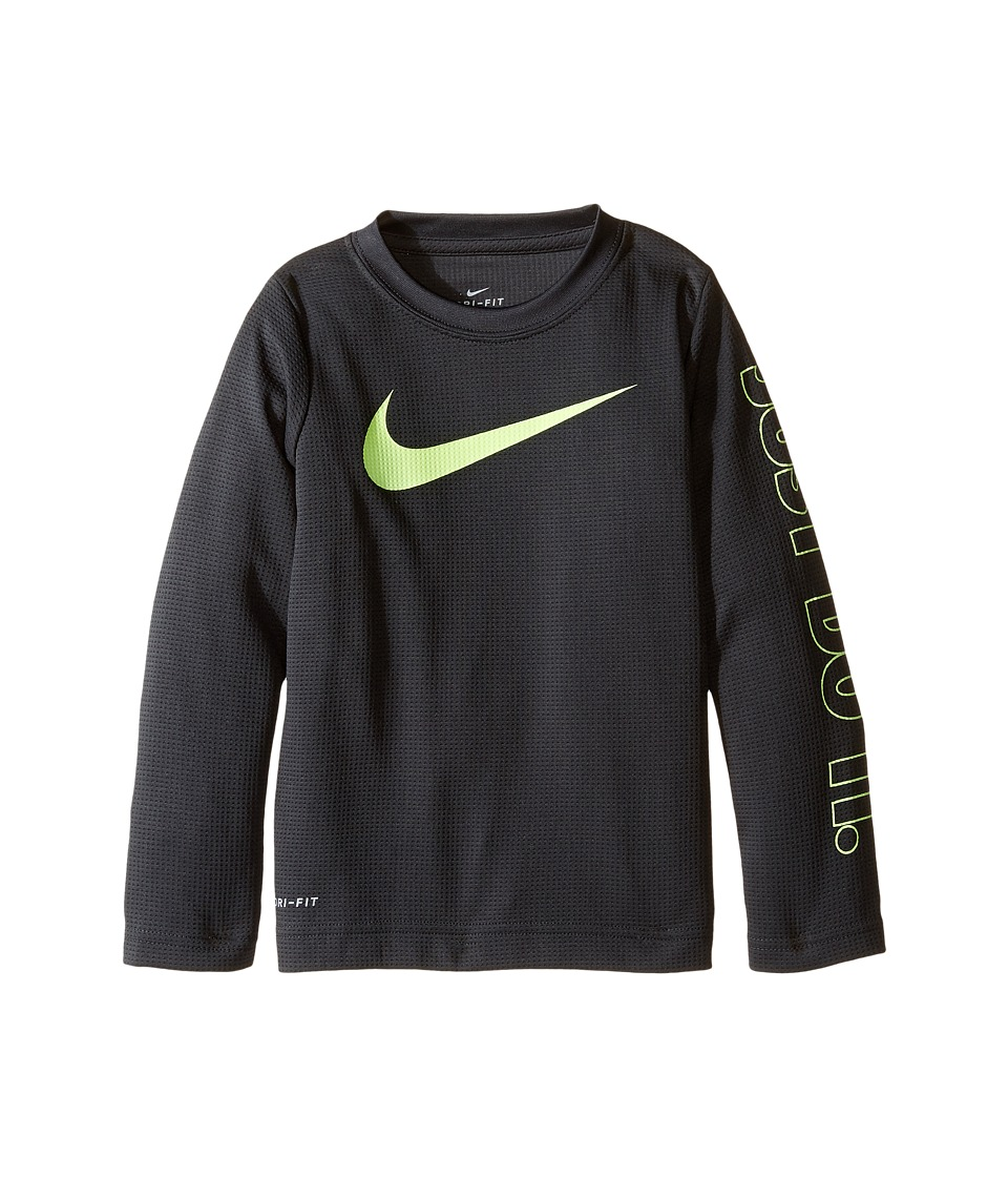Nike Kids - Swoosh Just Do It Dri-Fit Tee (Toddler) (Anthracite) Boy's T Shirt
