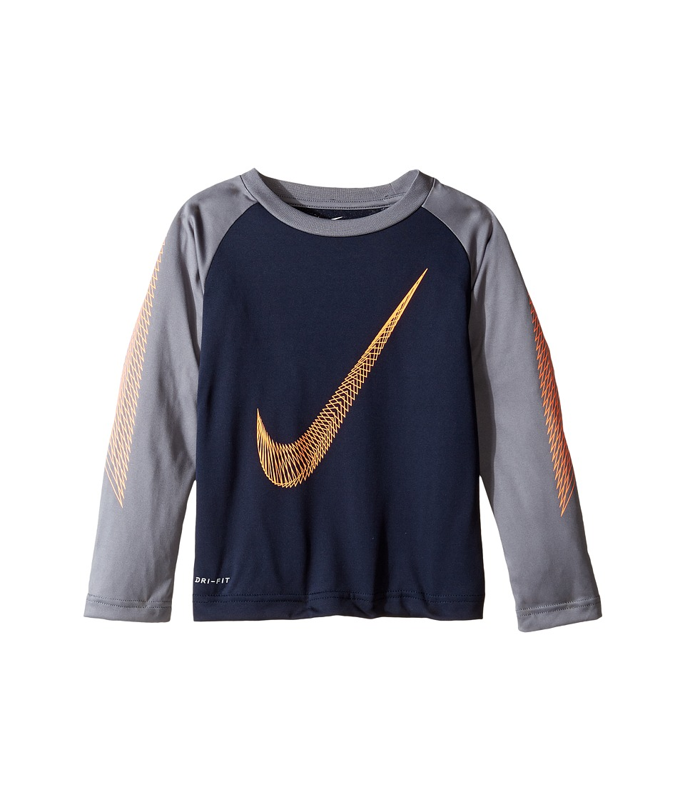 Nike Kids - Swoosh Flow Dri-FIT Tee (Toddler) (Obsidian) Boy's T Shirt