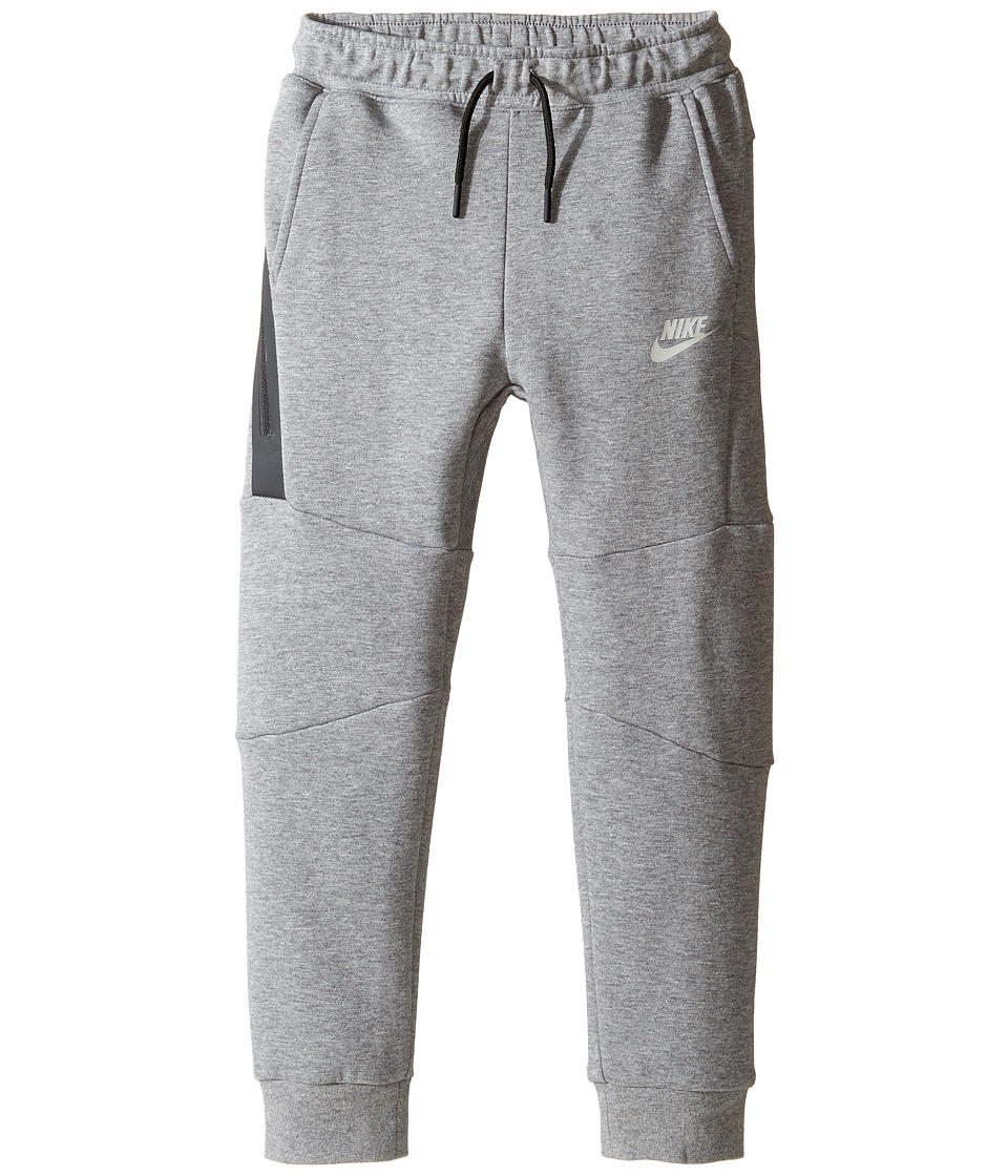 Nike Kids - Tech Fleece Pants (Little Kids) (Carbon Heather) Boy's Casual Pants