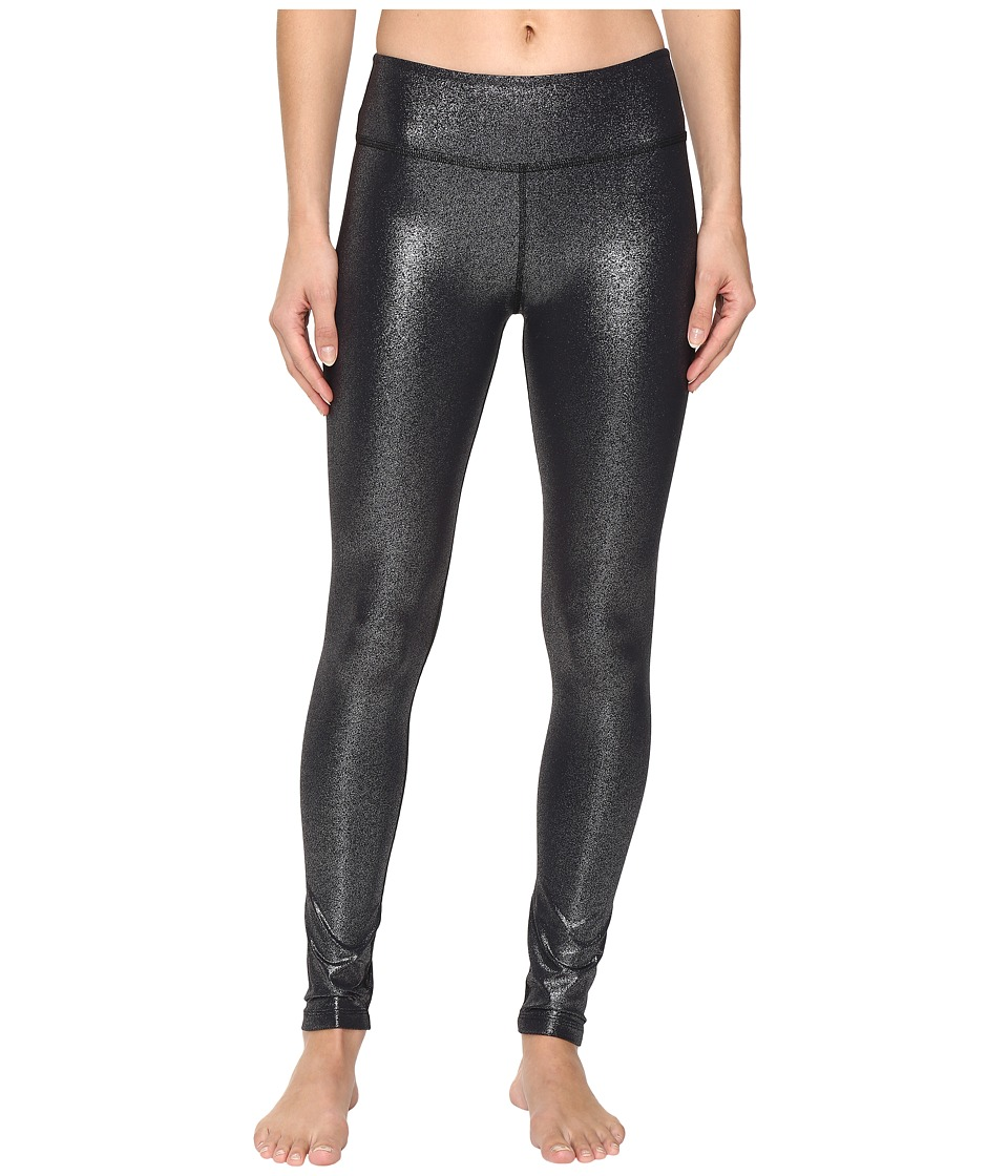 Beyond Yoga - Essential Long Leggings (Black/Silver Foil) Women's Casual Pants